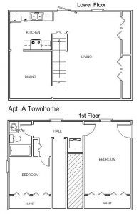 Apt A - 2 Bedroom Townhome